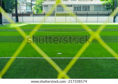 Indoor soccer field.