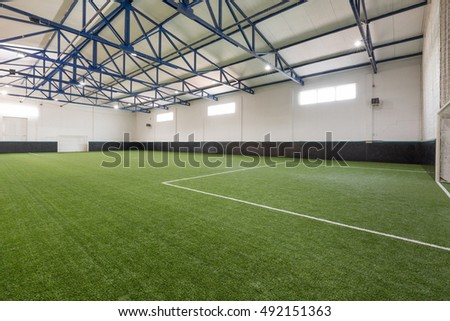 Indoor soccer or football field