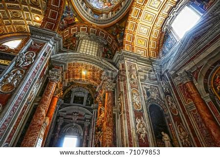 Indoor St. Peter's Basilica, Vatican