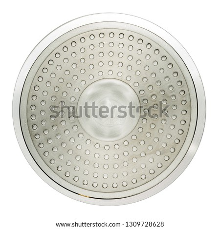 induction frying pan bottom isolated on white background
