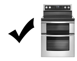 Induction Range Cooker Isolated on White. Induction Stove. Steam Range with Convection Oven & Five Burner Induction Cooktop. Front View Stainless Steel Electric Range Cooker. Major Domestic Appliances