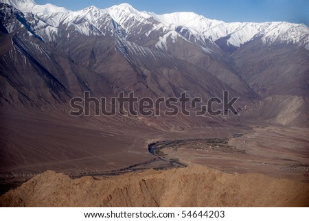 Indus River in front of the Zanskar Range, Ladakh, India