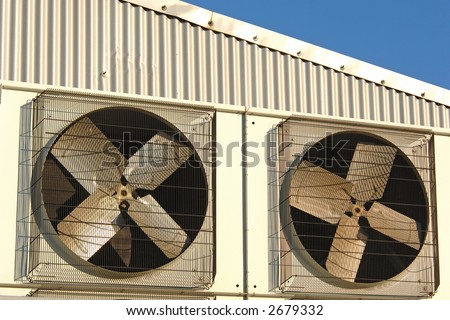 Industrial air conditioner and ventilation installation in plant