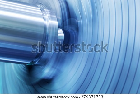 Industrial background. Drilling, boring machine at work. Industry, motion blur. #276371753