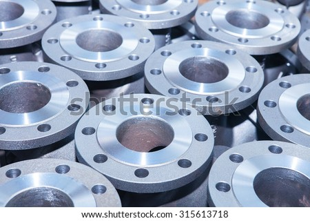 Industrial background from part of valves for power, oil or gas industry #315613718
