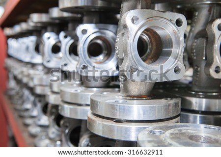 Industrial background from part of valves for power, oil or gas industry #316632911