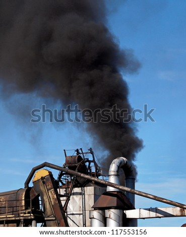 industrial black smoke