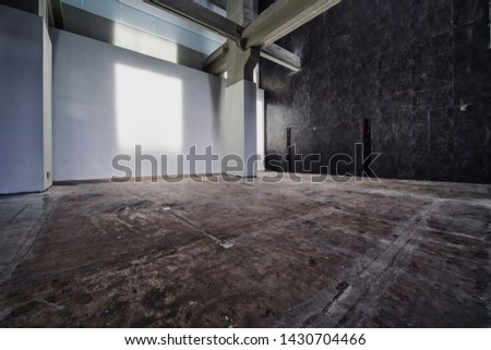 Industrial Building, Hallway of Empty Interior of Newly Renovated Old Industrial Building.