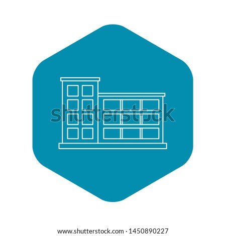 Industrial building icon. Outline illustration of industrial building icon for web