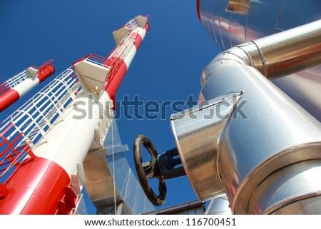 Industrial Building - Power Plant, best focus on valve