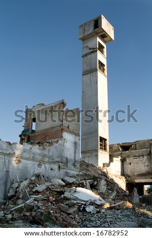 Industrial building under demolition