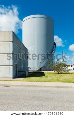 industrial buildings on the outskirts of the city #470526260