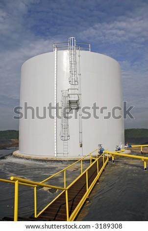 Industrial Bulk Storage Tank - stock photo