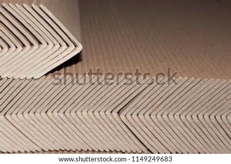 Industrial cardboard corner protection for pallets #1149249683