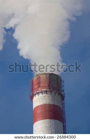 Industrial chemical smoke pipe