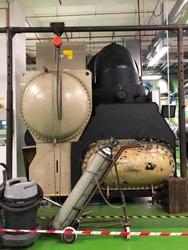 Industrial chiller under servicing