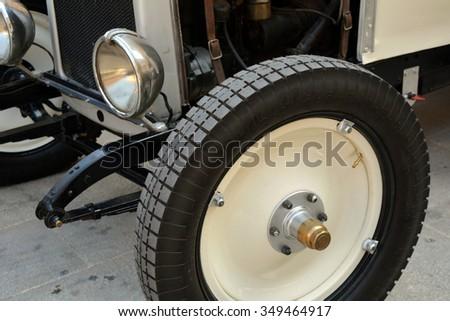 Industrial classic car. #349464917