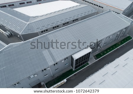 Industrial complex Commercial property Logistic complex top view