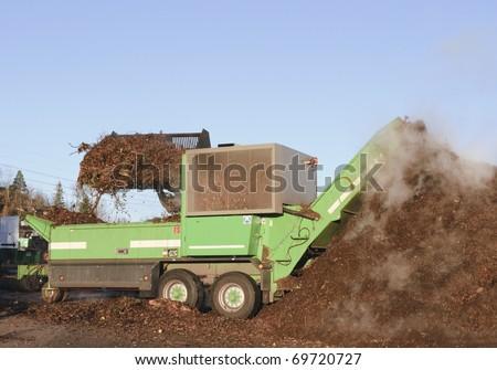 Industrial compost handling