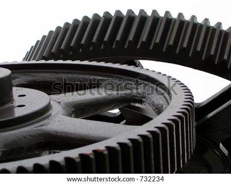 Industrial Concept -- symbolized by large gears