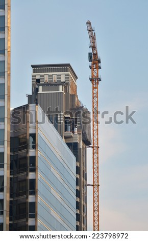 Industrial construction cranes and building #223798972