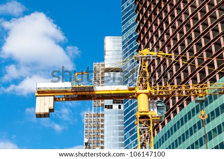 Industrial construction of multistory building