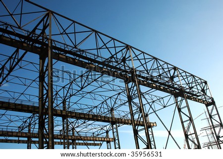 industrial construction on the sky background