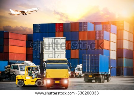 Industrial Container Cargo freight ship for Logistic Import Export concept #530200033