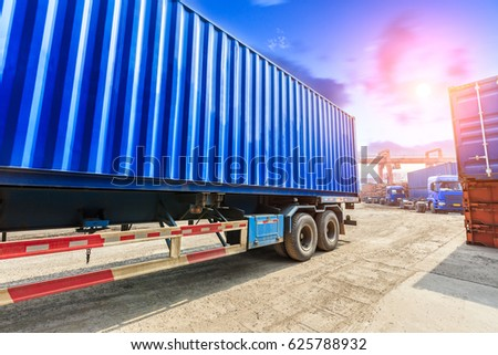 Industrial container truck freight transport #625788932
