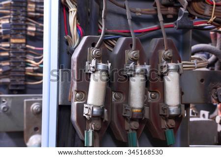Industrial control panel Photo stock ©