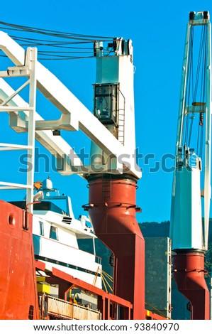 Industrial crane at dock
