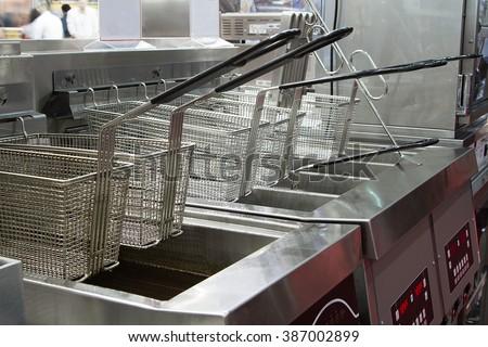 industrial deep fryer Stockfoto ©