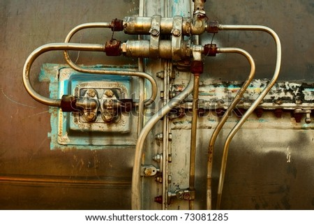 Industrial detail of an old rusty engine