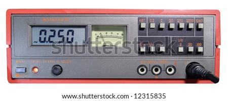 industrial digital and analog voltmeter