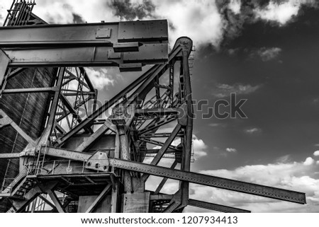 Industrial Drawbridge at Zaha Hadidplein, in Antwerp, Belgium