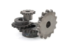 Industrial drive sprockets for chains. Chain drive.