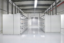 Industrial electrical switchgear room or MDB room, Industrial electrical switchgear electrical distribution substation in the factory