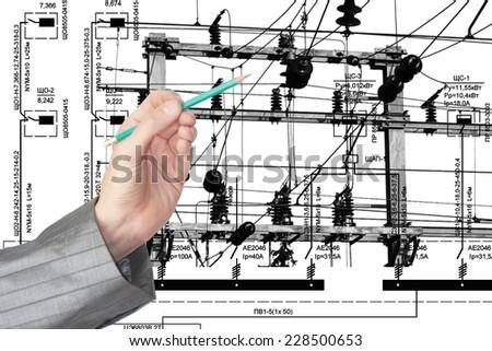 Industrial engineering designing power line