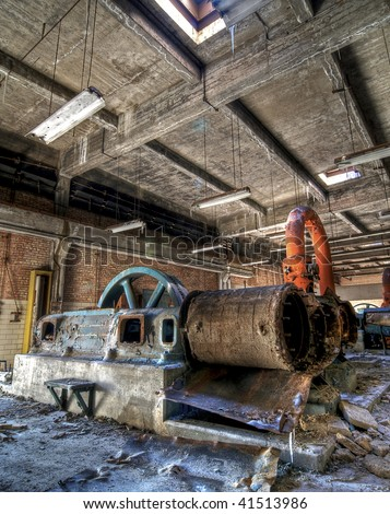 Industrial Equipment at an Abandoned Building
