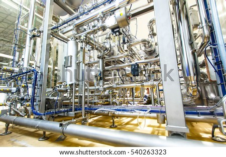 Industrial equipment stainless tubes Food automation.
