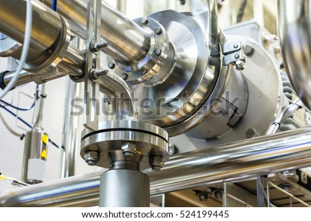 Industrial Factory equipment stainless tubes Food automation. #524199445