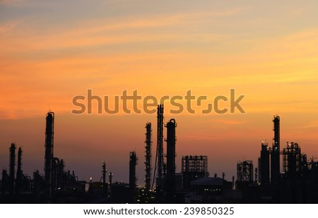 industrial factory With sunset light . #239850325