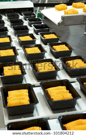 Industrial food production - stock photo