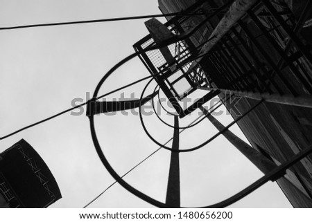 Industrial framework abstract background black and white