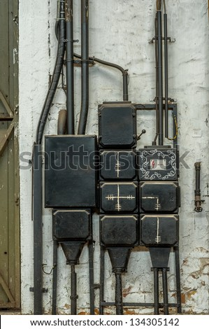 stock photo industrial fuse box on the wall closeup photo 134305142 free old fuse box photos page 2 39 avopix com industrial fuse box at beritabola.co
