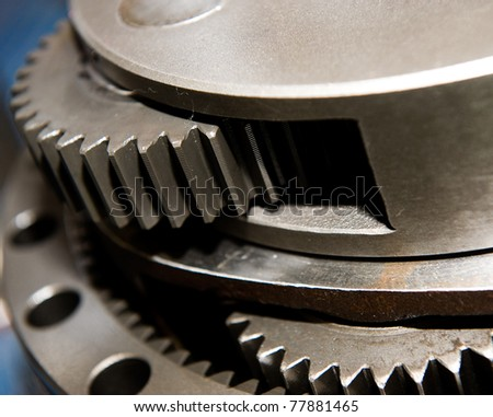 industrial gears set - stock photo