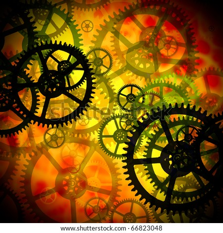 industrial gears set/  color  toning concept