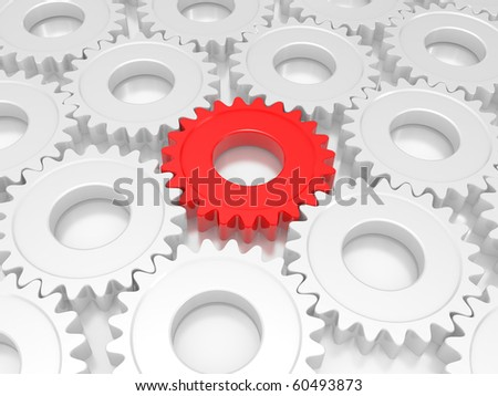 industrial gears. The concept of teamwork