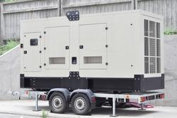 Industrial generator power. Mobile  backup power supply generator for emergency.