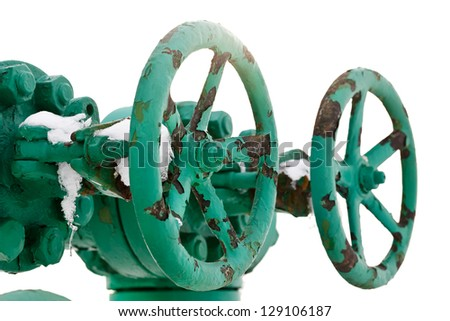 Industrial green pipe system with valves